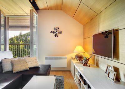 Interiér zimního bytu ve Velkých Karlovicích