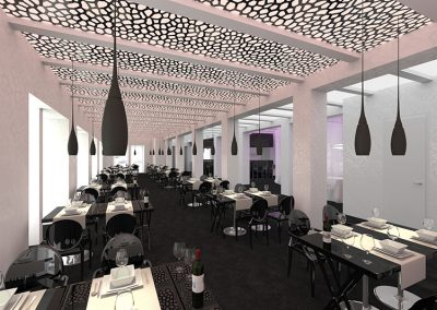 Návrh interiéru MaMa Cafe Restaurant v Ostravě