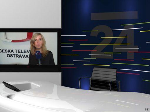 Návrh televizního studia pro ČT 24 v Ostravě