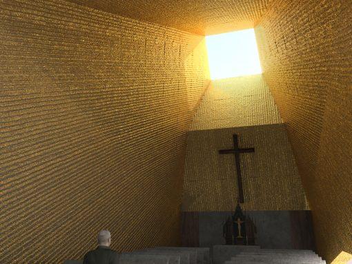 Interiér kostela v Těrlicku