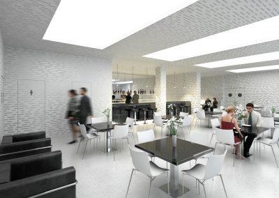 Návrh interiéru Kulturního domu Poklad v Porubě