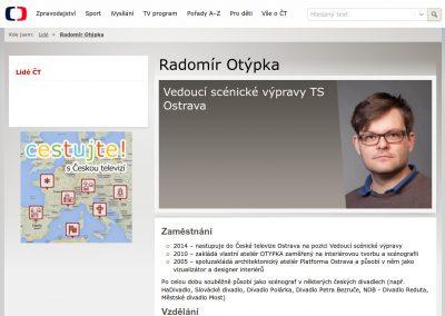 Vedoucí scénické výpravy TS Ostrava